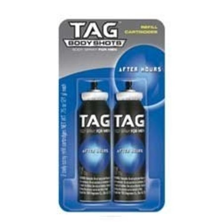 TAG Fragrance Tag Body Shots Body Spray Refill Cartridges, 2