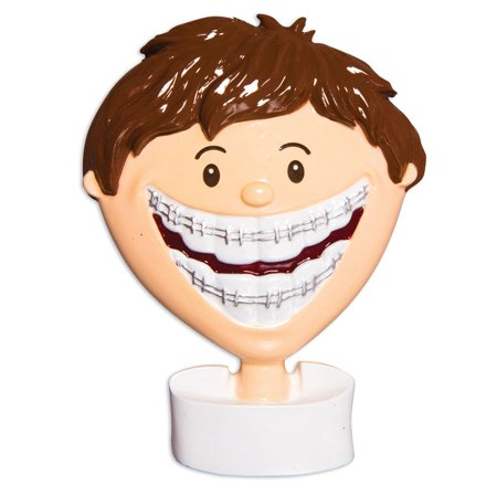 Child BRACE FACE Boy Personalized Christmas Ornament DO-IT-YOURSELF](Christmas Catalogs For Kids)