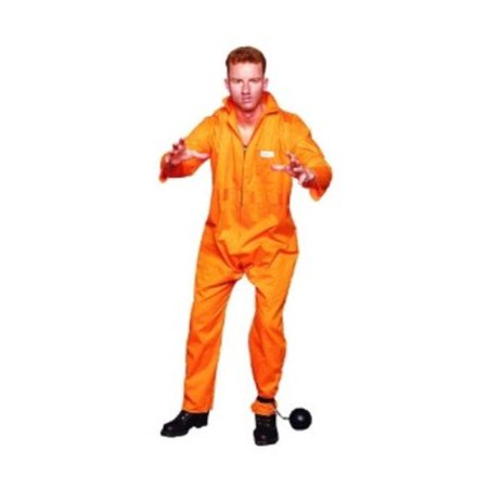 Escaped Convict Costume - Size Plus Male 46-50 - Prison Convict Costume