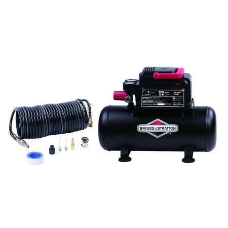 Briggs & Stratton 3 gallon air compressor with 8 piece accessory (Best 2 Gallon Air Compressor)