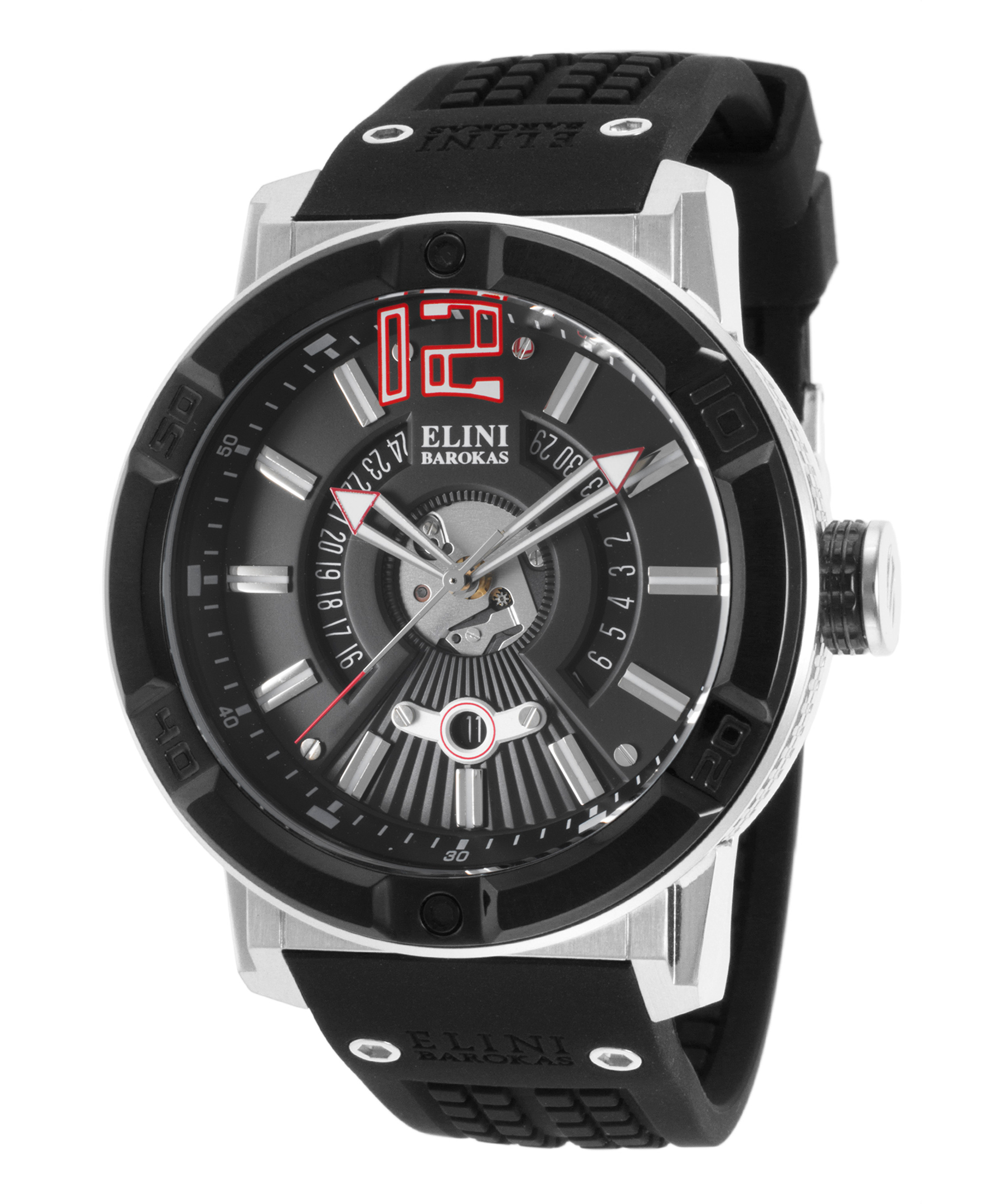 Elini Barokas 20002-01-Bb Spirit Black Silicone And Dial Ss Case Watch