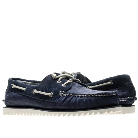 Sperry Top Sider Cloud Logo Razorfish Navy Nylon Men's Boat Shoes 1297654