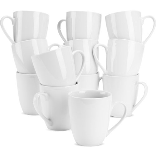 10 Strawberry Street White Mugs, Set of 12 by 10 Strawberry Street