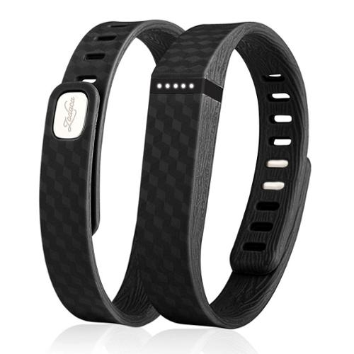 Zodaca 3D TPU Wristband Replacement Large Band Bracelet Wireless Activity Tracker Clasp for Fitbit Flex Black