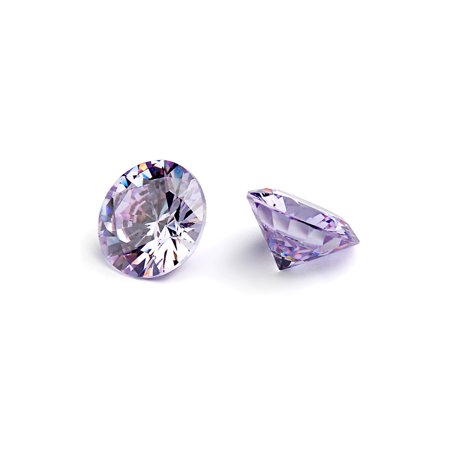 Round Cabochon Lavender - 7mm Flawless Lavender Cubic Zirconia Stones Round Brilliant-Cut Cz Stone Settings