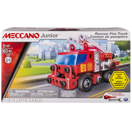 Meccano Junior Rescue Fire Truck with Lights and Sounds Model Building Kit](Wood Building Kits)
