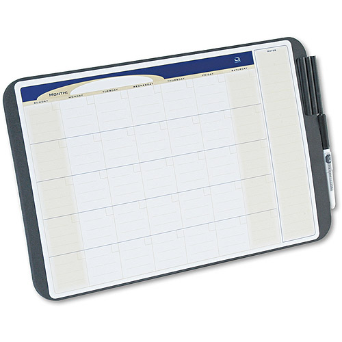 Quartet Tack & Write Monthly Calendar Board, Black