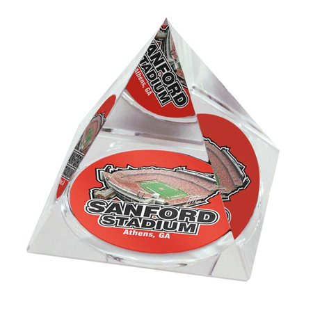 - Georgia Bulldogs GAUSTAPY80 3 in. NCAA Crystal Pyramid Collectible University of Georgia Sanford Stadium