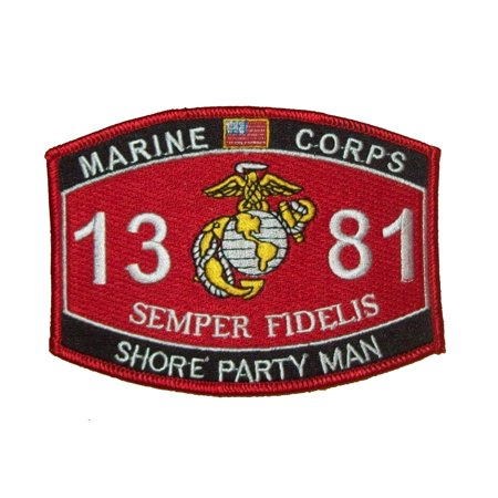 MARINE CORPS 1381 SHORE PARTY MAN SEMPER FIDELIS MOS PATCH USMC EGA (Marine Corps Moral Patch)