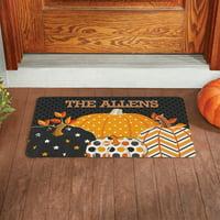 Personalized Pattern Pumpkin Doormat