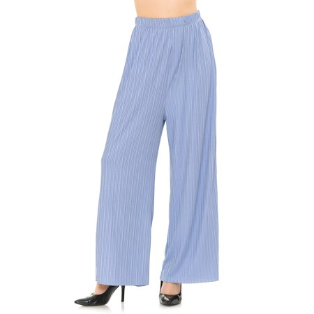 SSOULM Women's Ribbed Wide Leg Palazzo Pants with Plus Size