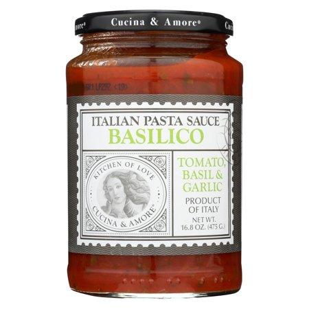 Cucina And Amore Basilico Italian Pasta Sauce - Tomato, Basil And Garlic - Pack of 6 - 16.8 - Cucina Italian Restaurant