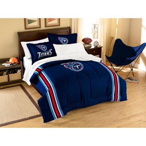 NFL Applique 3-Piece Bedding Comforter Set, Tennessee Titans