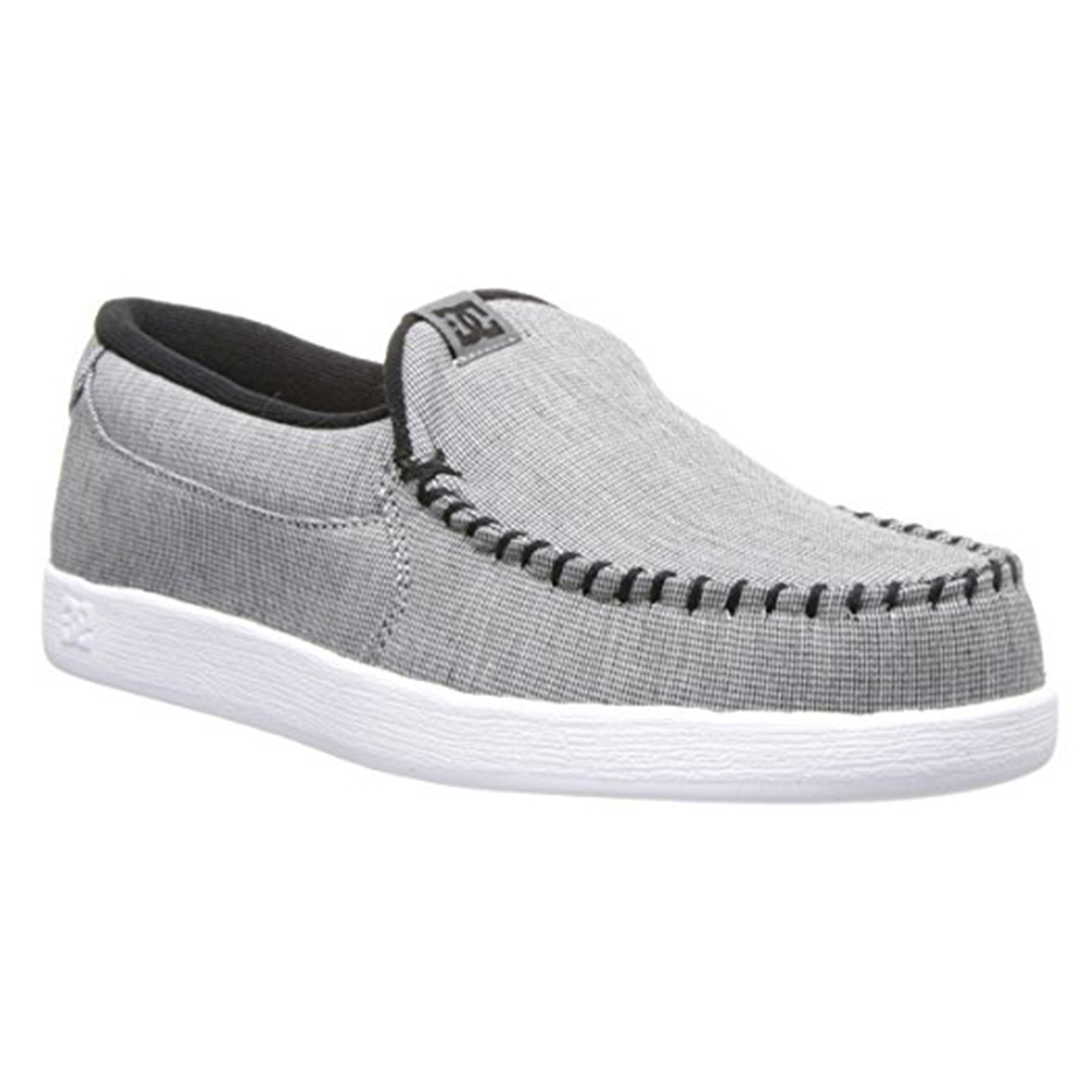 Dc Men's Villain TX Slip On Gray Casual Loafers 7 D