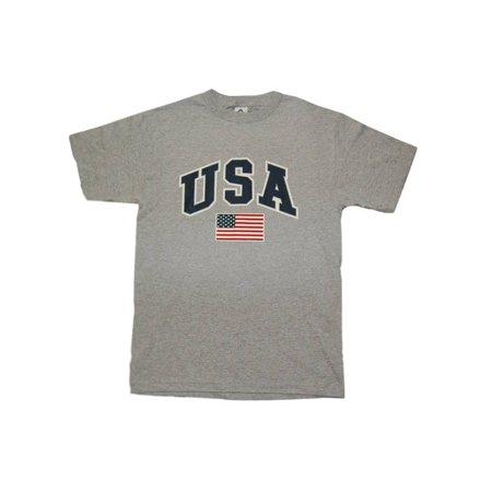 Usc T-shirt (USA Soccer Futbol Cotton T-Shirt - Gray, 2XL)