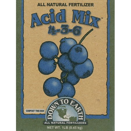 17803 4-3-6 Acid Fertilizer Mix, 1 lb, Perfect for acid soil loving plants like rhododendrons, azaleas, hydrangeas, evergreens, blueberries, raspberries and more By Down to Earth