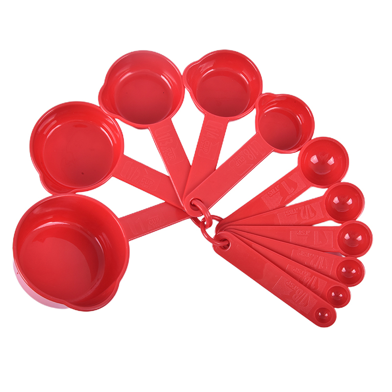 11Pcs//Set Plastic Kitchen Measuring Spoons Cup Set Baking Cooking Coffee Tools