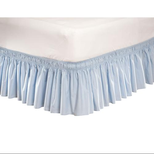 wrap around dust ruffle cotton blend bed skirt 14 inch drop twin