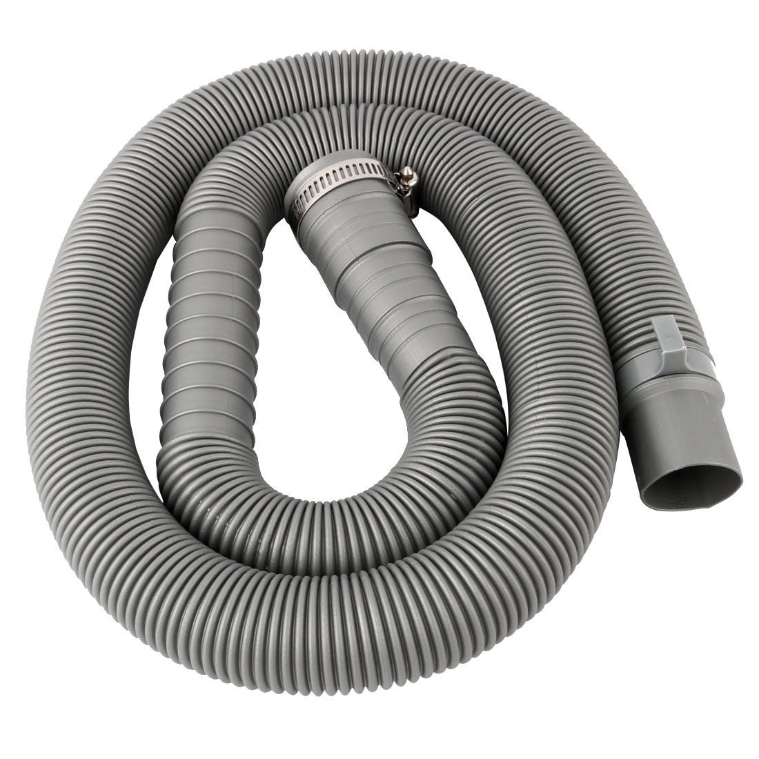4.3Ft PVC Washing Machine Drain Hose Extension Kit Gray