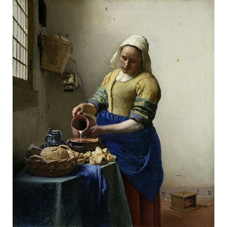 Adult Milkmaid (The Milkmaid Canvas Art -  (18 x)