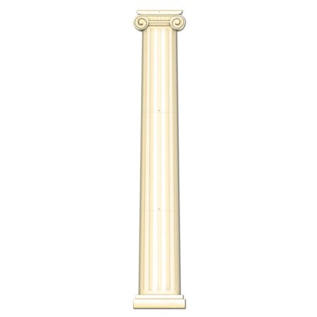 Club Pack of 12 Ivory Italian Themed Jointed Column Pull-Down Cutout Decorations 6'