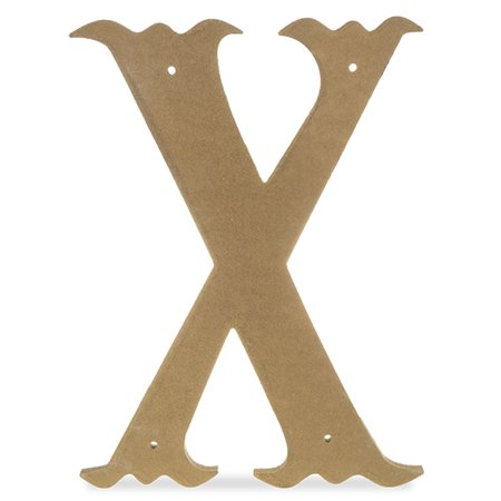 - Wood Decorative Letter - X - Antique Gold 14in