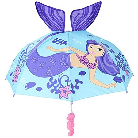 RINCO Kids Mermaid Umbrella Child's Size 30