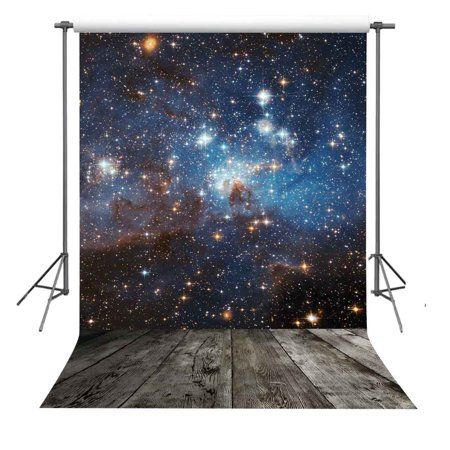 GreenDecor Polyster 5x7ft Starry Sky Photography Backdrop Photo Props Space Theme Background
