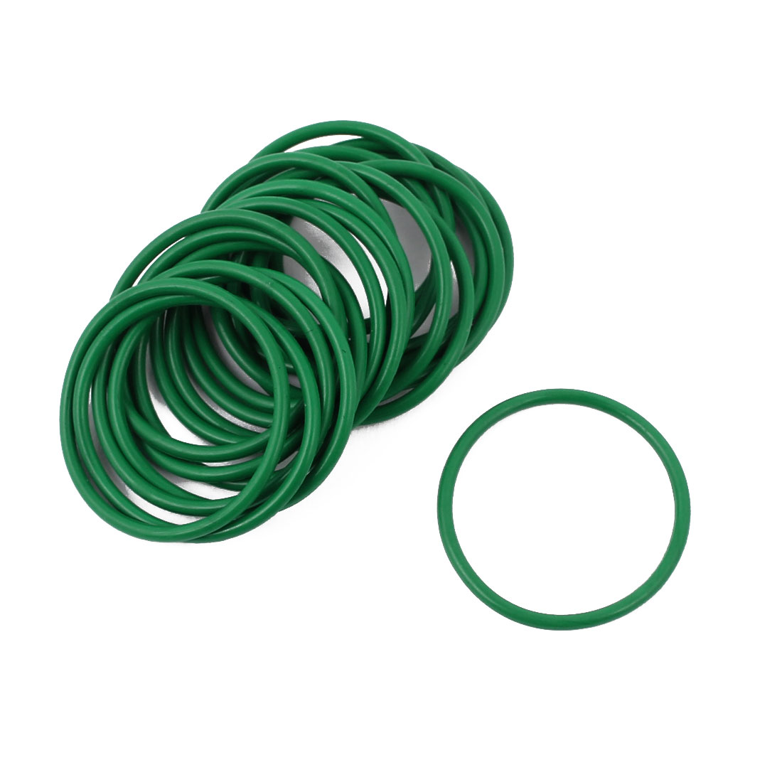 20 Pcs 24 x 1.5mm Oil Resistant Nitrile Rubber O Sealing Ring Nonpoisonus Green
