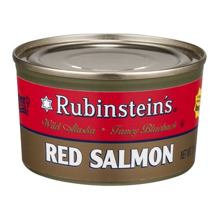 (2 Pack) Rubinstein's Wild Alaskan Red Salmon, 7.5 oz