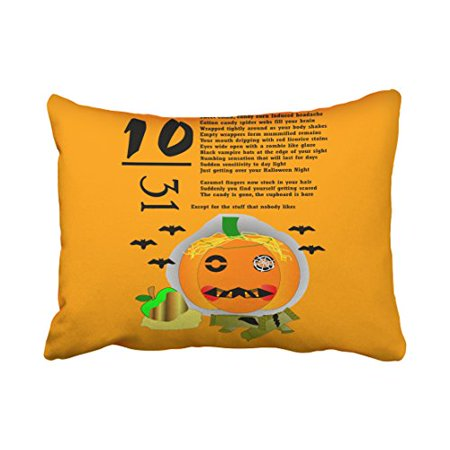 Hangover Halloween (WinHome Decorative Pillowcases Halloween Hangover Throw Pillow Covers Cases Cushion Cover Case Sofa 20x30 Inches Two)