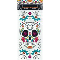 Plastic Skull Day of the Dead Candy Bags, 20ct