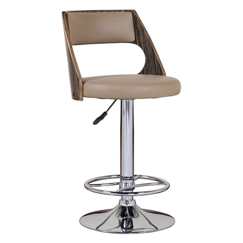 Leick Bentback Swivel Adjustable Height Bar Stools with Mocha Highlights Set of 2 by Leick Furniture