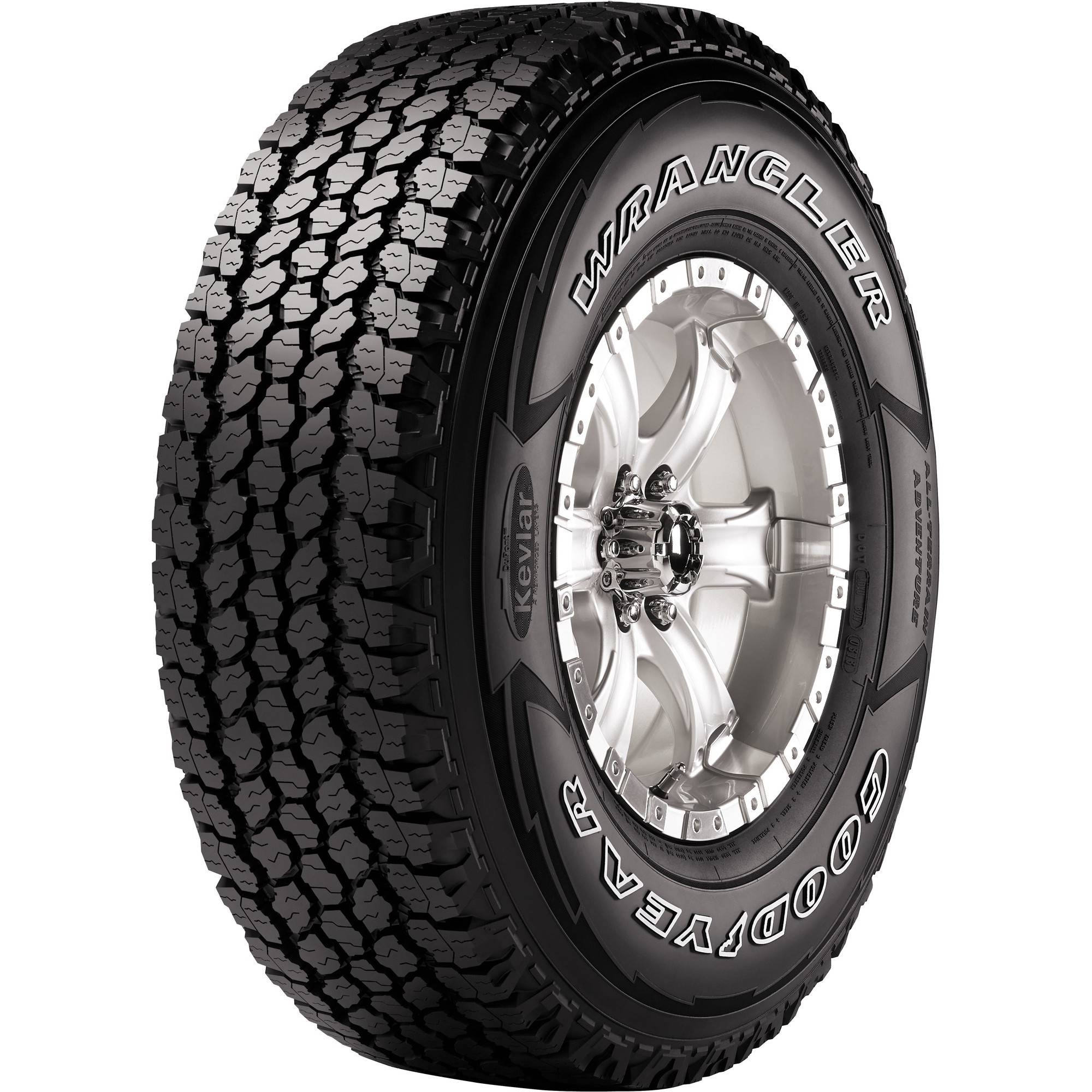 Goodyear Wrangler All-Terrain Adventure LT265/70R18/10 Tire 124S