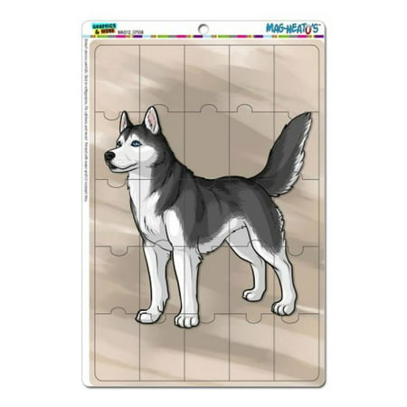 Graphics and More Siberian Husky Pet Dog Mag-Neato's Novelty Gift Locker Refrigerator Vinyl Puzzle Magnet Set
