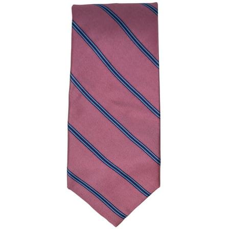 Floral Striped Tie - Men's 100% Silk Woven Wedding Neck Tie Collection