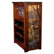 """Daybreak Whitetails"" Wine Cabinet"