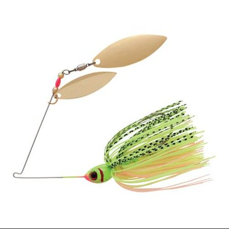 Booyah Blade Tandem Fishing Lure Chartreuse Perch 1 2