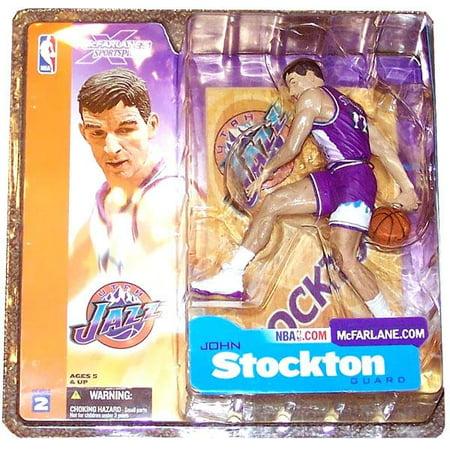 Mcfarlane Nba Sports Picks Series 2 John Stockton Action Figure  Purple Jersey Variant