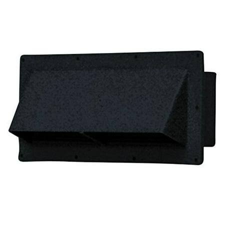 Mobile Home/RV Black Exterior Sidewall Range Hood Vent w/Damper V2111-5 - Install Range Hood Vent