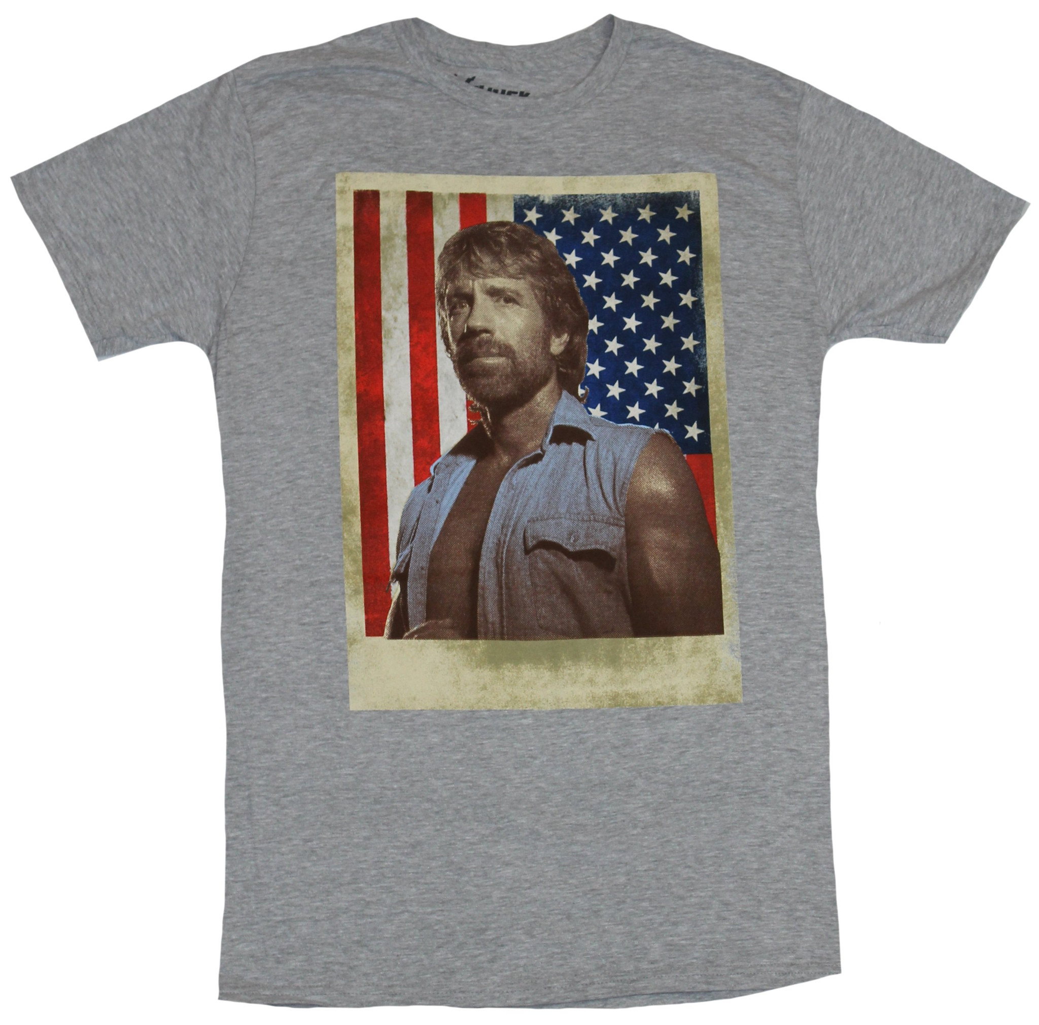7509f6d8a82ac3 IN MY PARENTS BASEMENT - Chuck Norris Mens T-Shirt - Sleeveless Chuck Over  American Flag Image - Walmart.com