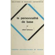 La personnalité de base - eBook