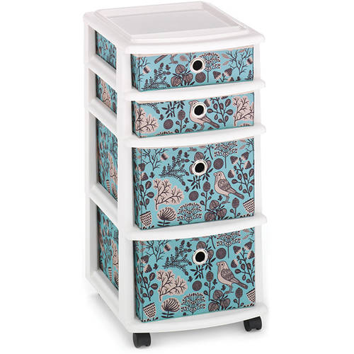 MyCraft Medium Cart with 4 Fabric Drawers, Craft Storage, Set of 3