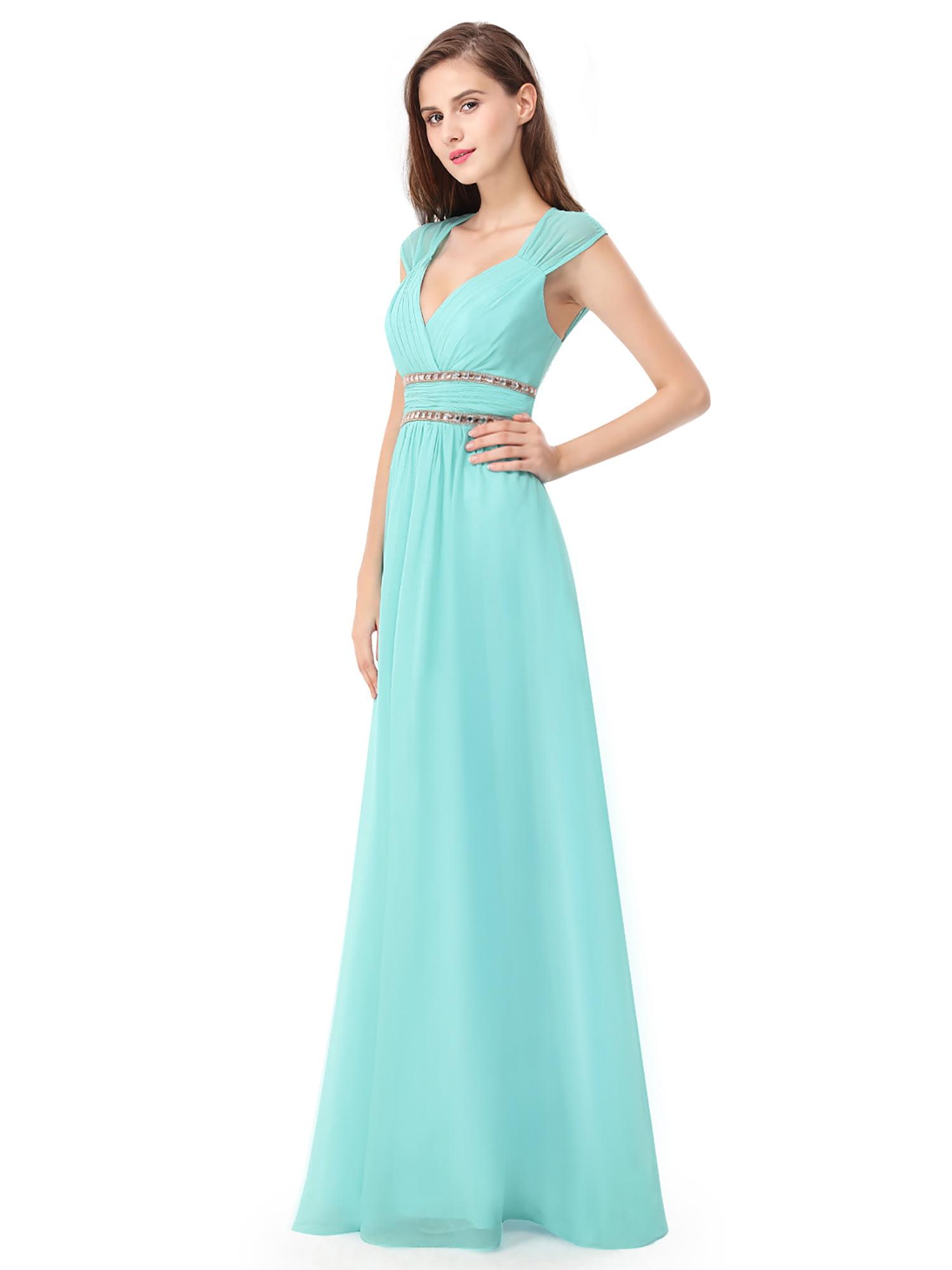 Ever-Pretty Women\'s Elegant Long V-neck Evening Party Maxi Dresses ...