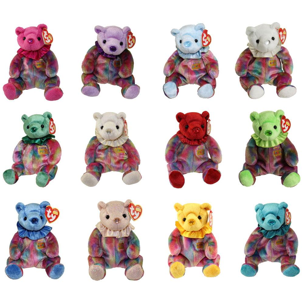 TY Beanie Babies - BIRTHDAY Bears (Set of 12 Months)(7.5 inch) - Walmart.com 0a37e6d2154