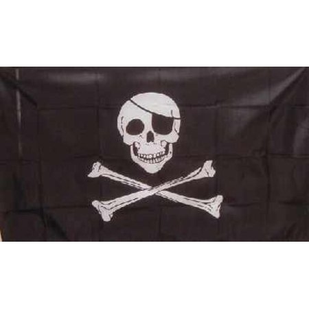 2x3 PIRATE FLAG - - - - - Skull + Bones Flag - - - - Jolly Roger 2x3ft Poison, Brass Grommets By WILDFLAGS,USA](Pirate Flag For Sale)