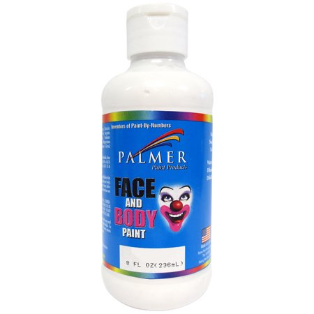 Face & Body Paint 8oz-White - Simple Halloween Face Paint
