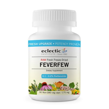 Feverfew Freeze-Dried 175mg Organic Eclectic Institute 90 VCaps