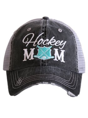 katydid hockey mom women's trucker hat