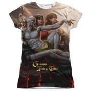 Zenescope Evil Vs Good (Front Back Print) Juniors Sublimation Shirt
